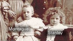 Childhood photo: Montague and Stanley Parish as boys. The brothers 'weren't very close' be...