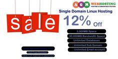 Mega Offer Get Flat 12% Off on Single Domain Linux Hosting  Mega Offer:  Get Flat 12% OFF on Single Domain Linux Hosting at AGM Web Hosting. Don't Miss this Hosting Offer and book Your Hosting Space and Start your online business. So DO Hurry and Setup your Business Now.   For More Details: Call Toll Free: 1800 121 1023/ 011-26041201 Email: info@agmwebhosting.com Visit: https://www.agmwebhosting.com/linux-single-domain-hosting.php