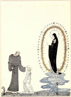 Kay Nielsen's Stunning 1914 Illustrations of Scandinavian Fairy Tales - East of the Sun and West of the Moon: Old Tales from the North - 'I am the Virgin Mary' | Brain Pickings