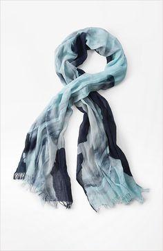 Pure Jill sky & sea scarf