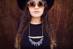 Blue Aura Quartz Necklace Best Christmas Gift Ever by BEADANDBONES