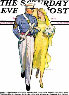 1930 Saturday Evening Post Cover #magazine #vintage #art #illustration #1930s #fashion #military #wedding #cover