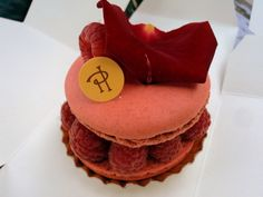 Pierre Hermé, Paris, France — by Angelica B.. His signature pastry! Rose macaron biscuit, rose petal cream, whole raspberries, and finished off with litchis.