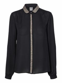 SACHMA STUDS L/S SHIRT, Black from Vero Moda