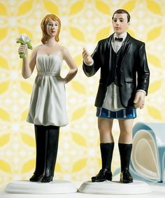 The Bride in Charge figurine humorously describes your relationship - with the lady wearing the pants!