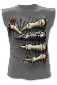 Spiral Direct Death Grip Mens Charcoal Sleeveless T-Shirt Boys T Shirts, Tee Shirts, Blusas T Shirts, Airbrush T Shirts, Biker Wear, Angel Outfit, Skull Hoodie, Tee Shirt Homme, Custom T Shirt Printing