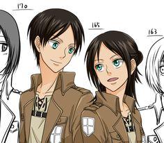Eren and eren genderbend