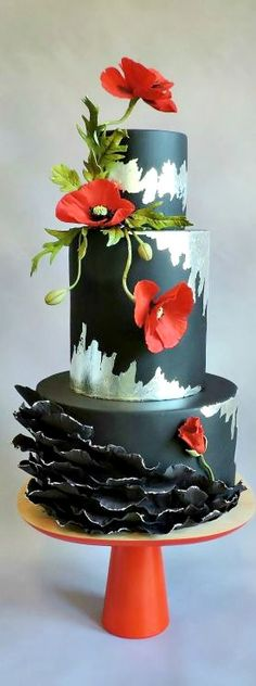 www.cakecoachonline.com - sharing...~ Poppies Cake