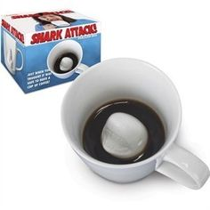 Accoutrements Shark Attack Porcelain Mug: Toys & Games