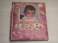 Scrapbooking: schema album foto nascita