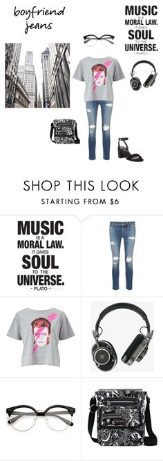 """""""~Music is life~"""" by livyroyal ❤ liked on Polyvore featuring rag & bone/JEAN, Miss Selfridge, Master & Dynamic, Sakroots and Charles by Charles David"""