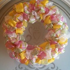 Spring Easter Ribbon Wreath | eBay