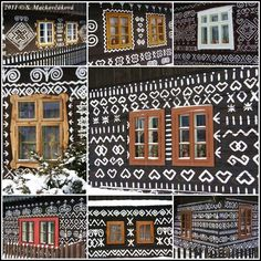Pohľad do okien Čičmanských domov. Family Roots, Beautiful Places In The World, Bratislava, Eastern Europe, Pattern Art, Art Studios, Wall Murals, My House, The Good Place