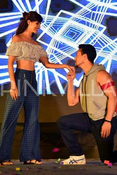 Bollywood actor Tiger shroff with Disha patani for Baaghi 2 promotion Tiger Girl, Tiger Love, Famous Indian Actors, Gonna Love You, Tiger Shroff, White Smile, Disha Patani, Romantic Moments, Hot Couples