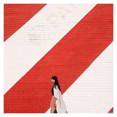 @bdaske submitted this awsome shot where #lines and #architecture play a key role | remember our #flickr group where you can upload your art | snap us on #snapchat | #art #photographer #red #white #people #urban #city #wall #love #paint #minimal
