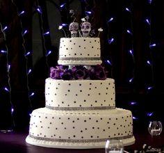 wedding-cake-purple-dots-day-of-dead-3-tier