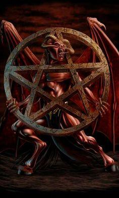For the Jews, the pentagram symbolized truth. For Medieval Christians, the pentagram symbolized the five wounds Christ received during his Crucifixion. Arte Horror, Horror Art, Dark Fantasy Art, Dark Art, Vampires, Demon Pictures, Satanic Art, Evil Art, Ange Demon