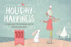 Holiday & Christmas bundle by Lisa Glanz on Creative Market
