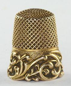 Antique Ketcham McDougall 14k Gold Scroll Fancy Thimble | eBay 395.00