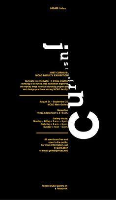 "MCA+D Exhibition, ""Just Curious"""