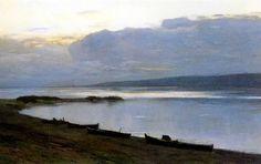 Isaac Levitan (1860-1900), Soir sur la Volga - 1887/88