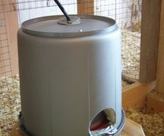 insulated watering place for chicken- keeping clean unfrozen water in the winter