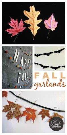 love: apple print garland