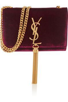 The Millionairess of Pennsylvania....Saint Laurent|Monogramme Velvet Shoulder Bag