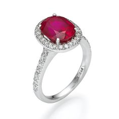 Ruby Diamond Ring 6.70ct Vintage Antique Art Deco.