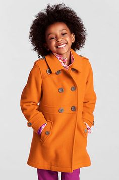 Girls' Wool Coat from Lands' End -wish it came in more colors!