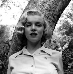An image from a shoot early in Monroe's career, photographed in Griffith Park, Los Angeles, 1950.