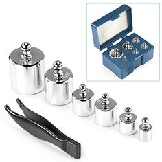 Neewer 205 Gram Precision Steel Balance Scale Calibration Weight Kit Set with Tweezers, Class M2 -Suitable for Digital Jewellery Scale, General Laboratory, Commercial, and Educational use ** Want additional info? Click on the image.