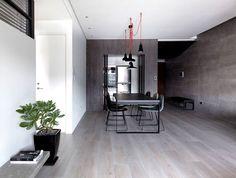 Dark and Moody Apartment Interior dark parqueted stylish urban atmospheres