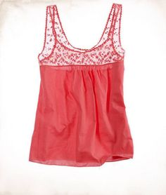 AERIE EMBROIDERED TANK: Pink Sorbet