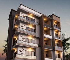 Hotel Design Architecture, Residential Building Design, Home Building Design, Facade Architecture, Modern Apartment Design, House Front Design, Facade Design, Modern Buildings, Ideas