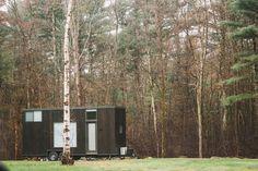 Tiny House Cabin, Tiny House Living, Tiny House Plans, Tiny House On Wheels, Small Living, Tiny Mobile House, Huge Windows, Tiny House Movement, Tiny Houses For Sale