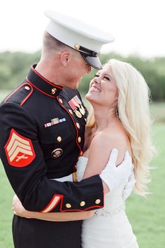 Patriotic Wedding Inspiration by Jennefer Wilson - Southern Weddings Military Wedding Pictures, Army Wedding, Military Photos, Dream Wedding, Navy Military Weddings, Wedding Things, Marine Corps Wedding, Marine Corps Ball, Military Couples