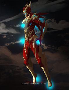 - slick armor by Donovan Liu on ArtStation. Robot Concept Art, Armor Concept, Weapon Concept Art, Robot Art, Fantasy Character Design, Character Design Inspiration, Character Art, Fantasy Armor, Dark Fantasy Art