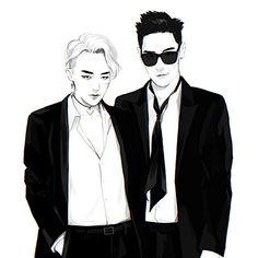 GD and TOP #Fanart #BIGBANG #GTOPLove
