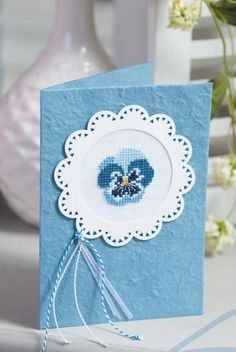 Πασπαρτού κάρτα, μπλε -Stiefmütterchen-
