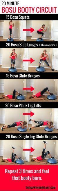 20 minute Bosu Circuit: Take that Bosu Ball out of Retirement — This Bosu ball workout will provide a…