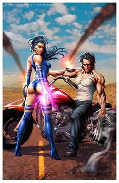Psylocke & Wolverine by Carlos Venezuela