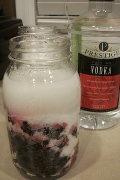 Fleming Sweet can you please do this next year durring your berry picking craze? Homemade Alcohol, Homemade Liquor, Homemade Food Gifts, Diy Food Gifts, Blackberry Vodka Recipes, Raspberry Vodka, Mead Recipe, Hot Chocolate Gifts, Infused Vodka