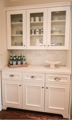 Small Butler's Pantry. I want a bigger one but this is the right idea. Also, I like the cabinet style