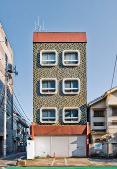 Burning Standard - Kawaii-Buildings by Ken Ohyama Rv Interior, Interior Design, Garage Renovation, Retro Pop, Cozy House, Landscape Photography, Art Nouveau, Architecture Design, Multi Story Building