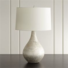 Mulino Table Lamp   Crate and Barrel Dining credenza