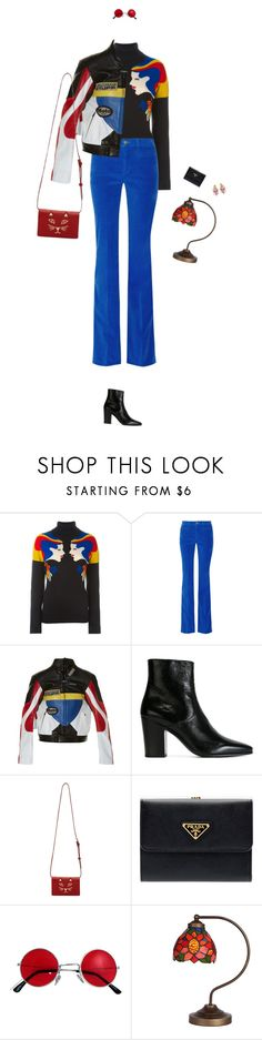 """""""Untitled #3274"""" by lucyh2204 ❤ liked on Polyvore featuring VIVETTA, M.i.h Jeans, Vetements, Yves Saint Laurent, Charlotte Olympia, Prada and Dolce&Gabbana"""