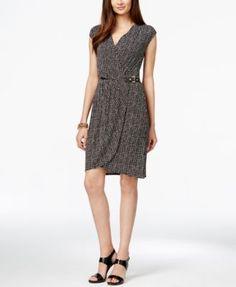 MICHAEL Michael Kors Printed Faux-Wrap Dress