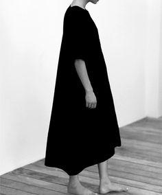 Long Black Dress - modern simplicity, minimalist fashion // Emerson Fry