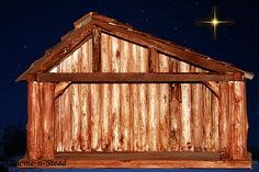Wanting to make a stable for my Willow Tree nativity. Christmas Nativity, Rustic Christmas, Willow Tree Nativity, Nativity Stable, World Best Photos, House In The Woods, Stables, Cabin, House Styles